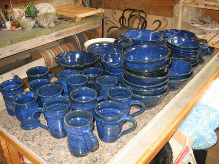 Studio blue dishes